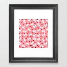 Lace gift wrap pink Framed Art Print