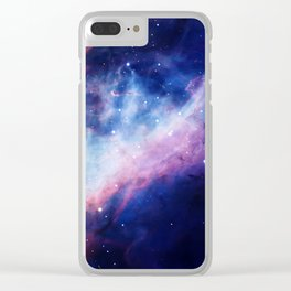 Space Nebula Clear iPhone Case