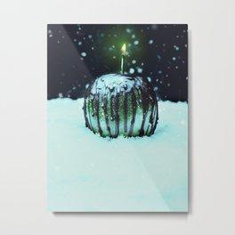 Green Poison Apple Metal Print