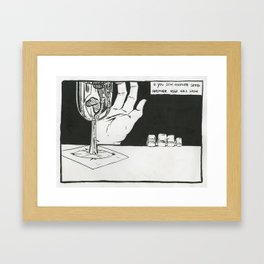 Hand of Doom Framed Art Print