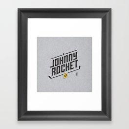 Johnny Rocket Framed Art Print