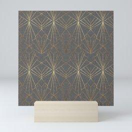 Art Deco in Textured Grey Mini Art Print