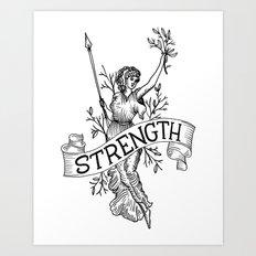 Warrior woman Art Print