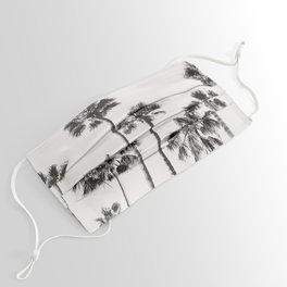 Black & White Palms 3 Face Mask