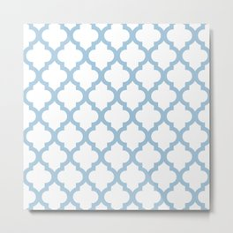Moroccan Quatrefoil Pattern 744 Metal Print