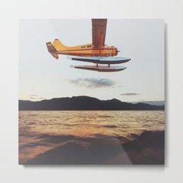 Float Plane Flyby Metal Print