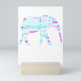 Save the Elephants - Animal Rights Equality T-Shirt Mini Art Print