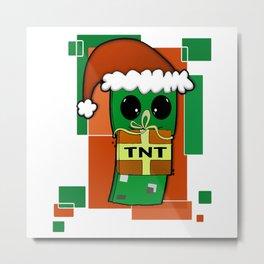 Christmas Creeper Metal Print