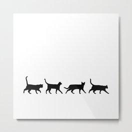 Kitty Conga Line Metal Print