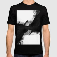 Man of isolation SMALL Black Mens Fitted Tee