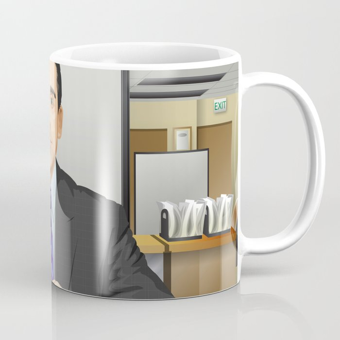 office coffee mugs. Steve Carell As Michael Scott (The Office) Coffee Mug Office Mugs