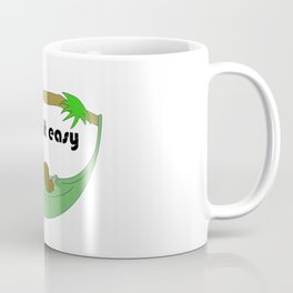 Take it easy sloth in hammock Coffee Mug