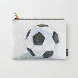 Soccer Ball Watercolor Carry-All Pouch