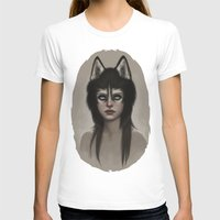 husky T-shirts featuring Husky by Fernanda Suarez