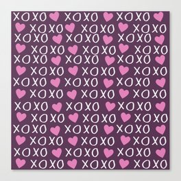Valentines day pattern Canvas Print