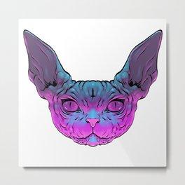Black Magic Cat Metal Print