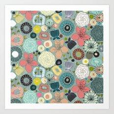 oriental blooms Art Print