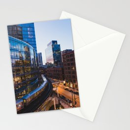 Brown Line at Dusk Stationery Cards