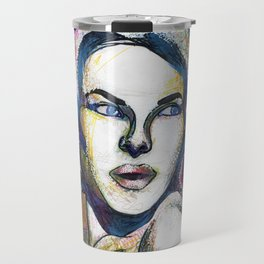 Pop Art Woman Travel Mug
