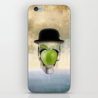 magritte iPhone & iPod Skins featuring Magritte Skull by HenryWine