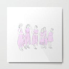 Bridesmaids (pink) Metal Print