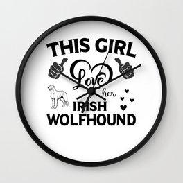 This Girl Love Her Irish Wolfhound Wall Clock
