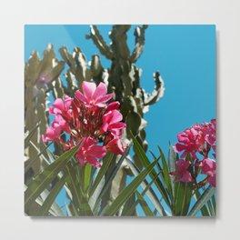 Cactus Floral Metal Print