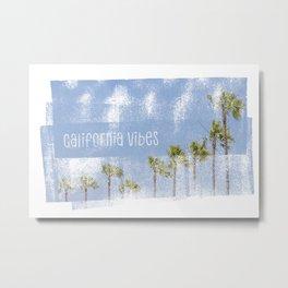 California Vibes | Blue Vintage Metal Print