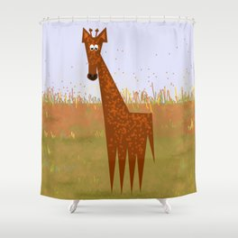 Giraffe on the savannahs Shower Curtain