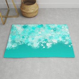 paint splatter on gradient pattern dri Rug