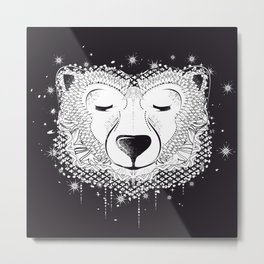 Dreaming Polar Bear Metal Print