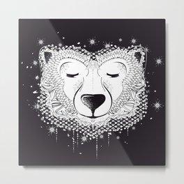 Dreaming Polar Bear Metal Print