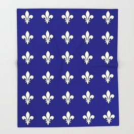 Fleur de lys 2-lis,lily,monarchy,king,queen,monarquia. Throw Blanket