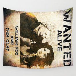 William and Thia: Wanted Poster Wall Tapestry