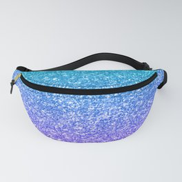 Purple and Emerald Green Gradient Glitter Print Fanny Pack
