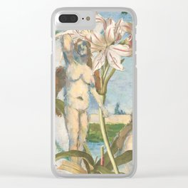Cezanne's Ladies And Some Lilies Clear iPhone Case