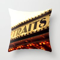 cheese Throw Pillows featuring Cheese by Rachel Landry