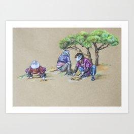 Gardening Ajummas Art Print