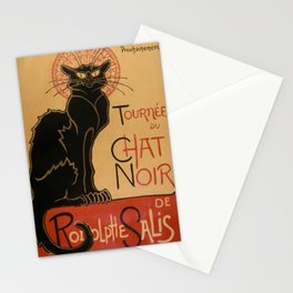 Le Chat Noir The Black Cat Poster by Théophile Steinlen Stationery Cards