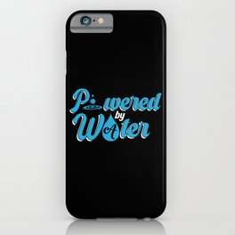 Water Fastig Powered by Water iPhone Case