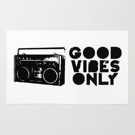 Good Vibes Only Boombox Rug