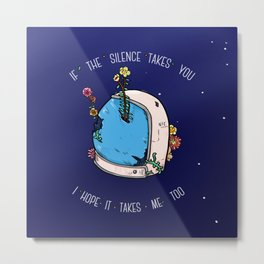 Silent Astro Night Metal Print