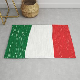 Italy flag made of doodle Rug