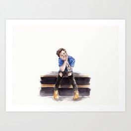 Smiling Harry Styles Art Print