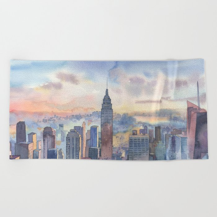 New York Beach Towel