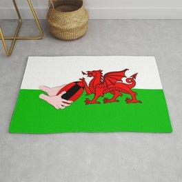 Wales Rugby Flag Rug