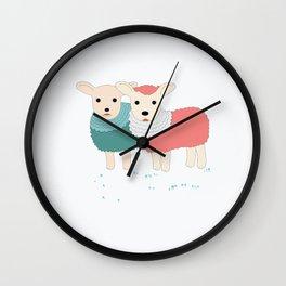 sheep sweet dreams Wall Clock