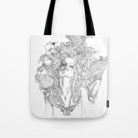 rogue Tote Bags featuring Rogue by Tri Vo