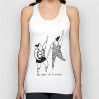 be happy Tank Tops featuring happy by mariana, a miserável(the miserable one)
