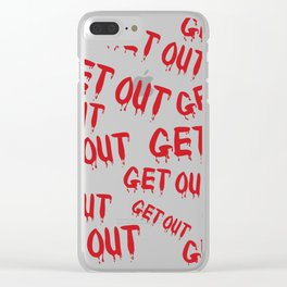 Get Out Horror House Clear iPhone Case